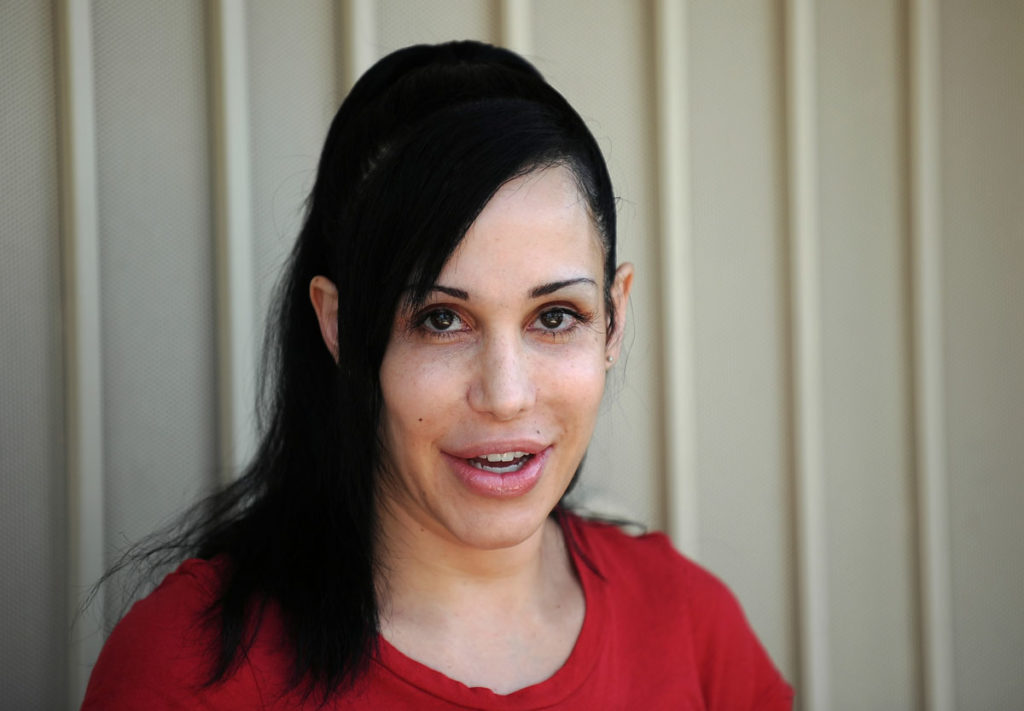 """Octomom"" Nadya Suleman poses for photog"